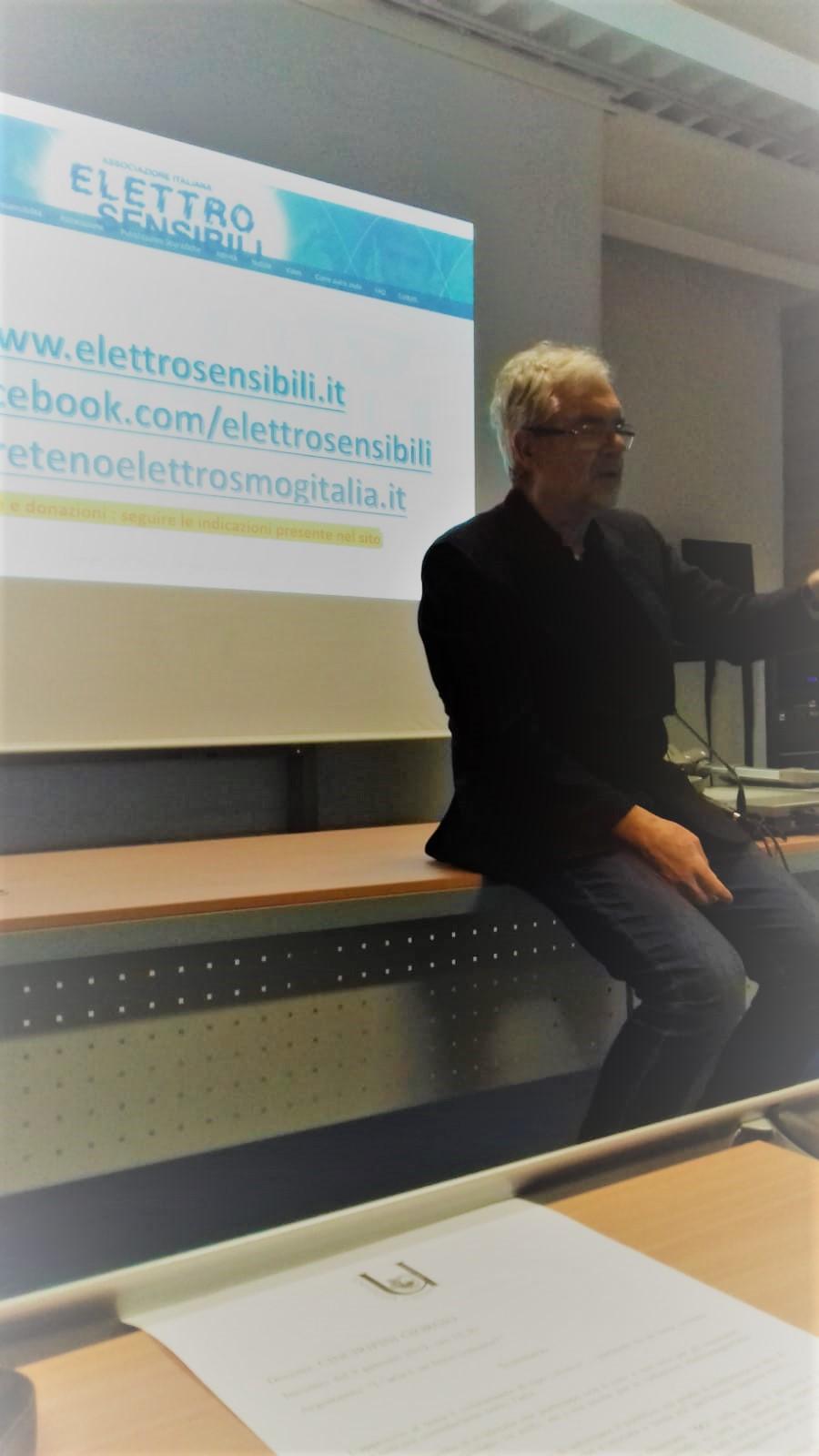 Giorgio Cinciripini all'Università di Crema gennaio 2019